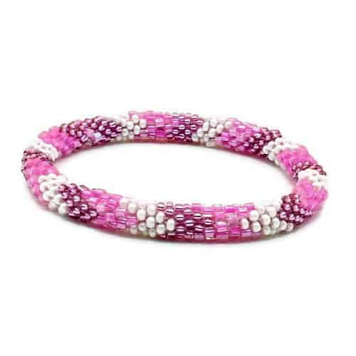 Nepal Glass Bead Roll On Bracelet Beaded Bracelet Handmade By