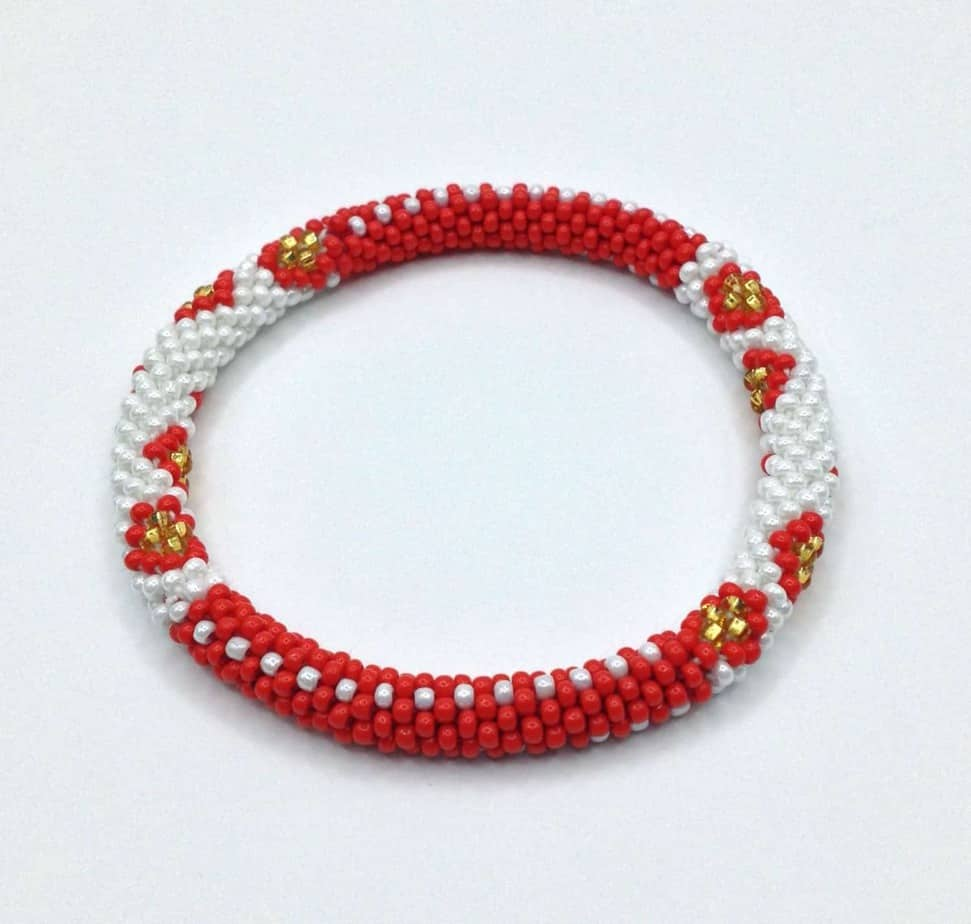 jewellery glossy memory treat bracelet tiny heart lithuanian red design gold cookie