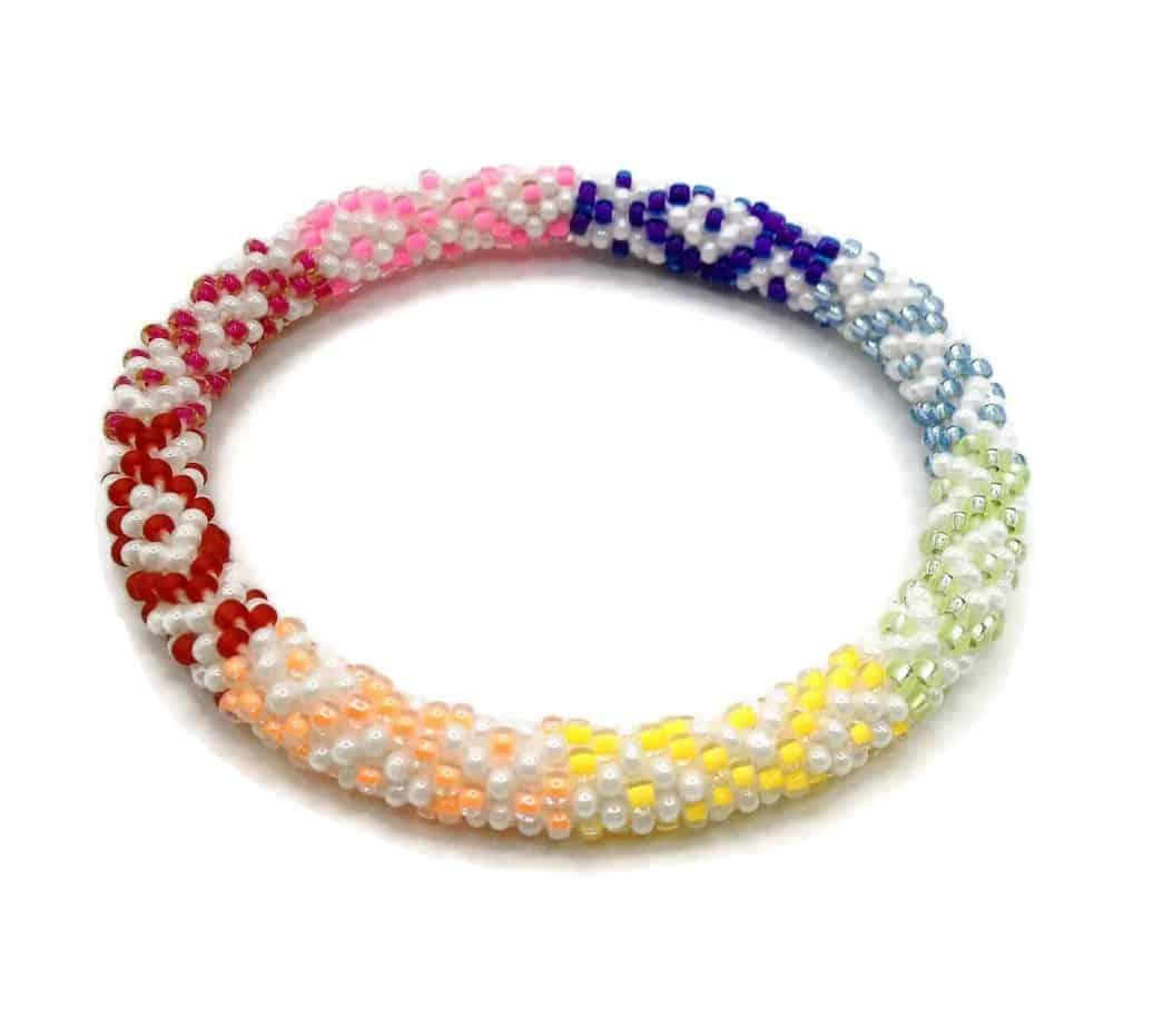 Very Colorful Lifted Hope Nepal Glass Bead Bracelets Handmade By