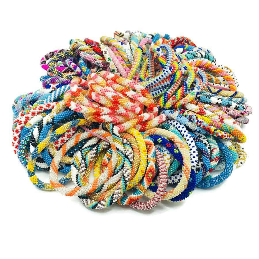 Whole Bulk Nepal Bracelets Gl Seed Beads Roll On For Boutiques S And Fund Raising Events Sold Directly By Makers