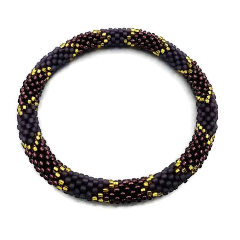 dark purple nepal roll on barcelet
